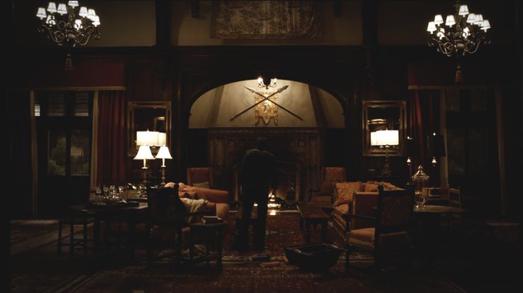 salvatore boarding house and all its dark interior loveliness dark wood furniture stained glass light fixtures and windows persian rugs candle - Dark Wood House Interior