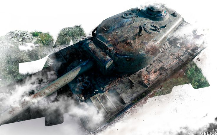 American tank T-34 photoshop collage