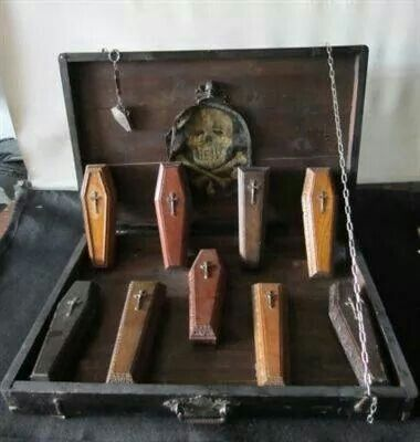 Funeral director sample coffins