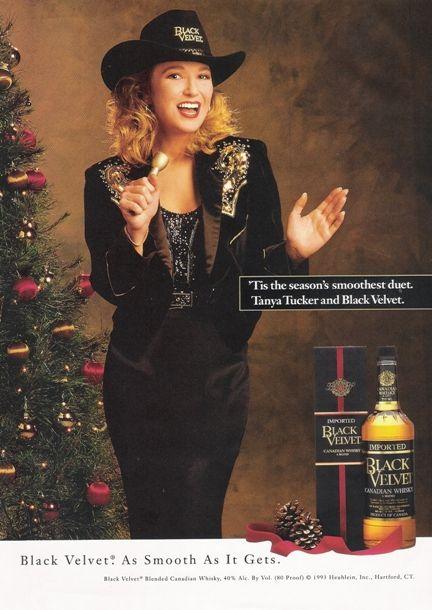 Tanya Tucker for 1993 Heublein Inc Black Velvet Canadian Whiskey