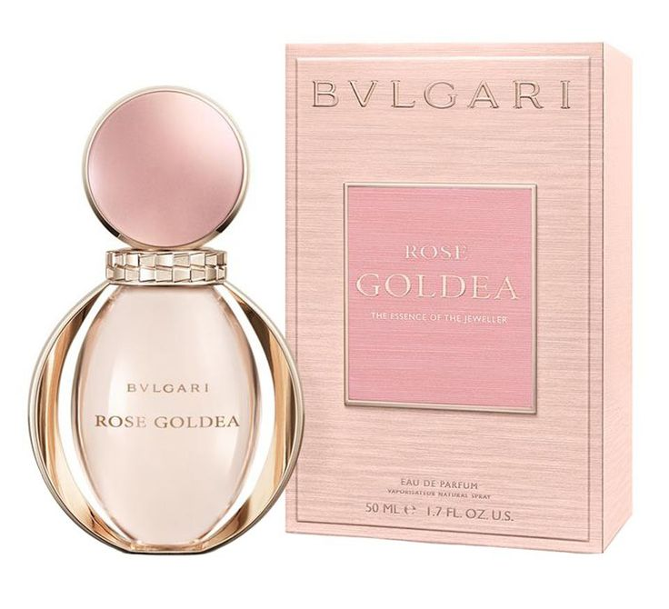 """Alberto Morillas signed this feminine composition focused on the tantalizing scent of pomegranate combined with aromas of rose and jasmine"" After the great success of Goldea, Bvlgari launches its successor Rose Goldea in July 2016. In Goldea, ""goddess of gold"", jewelry house Bulgari focused on the intoxicating sweetness of exotic ylang-ylang flowers mingling with elegant white flowers of jasmine and nerol"
