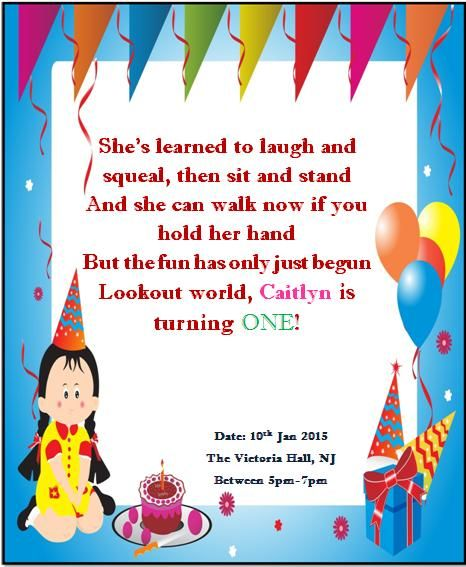 10 Best Printable 1st Birthday Invitation Templates Images