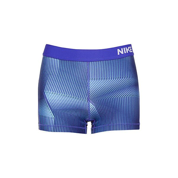 Nike Striped Pro Cool shorts (375 ZAR) ❤ liked on Polyvore featuring activewear, activewear shorts, nike activewear, nike and nike sportswear
