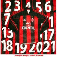 2000-01 AC Milan L/S Player Issue Home # Shirt M , From CLASSIC FOOTBALL SHIRTS LIMITED , CLASSIC FOOTBALL SHIRTS LIMITED