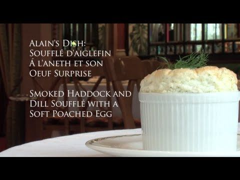▶ Three Michelin Starred Alain Roux, cooks smoked haddock souffle with poached free range egg - YouTube