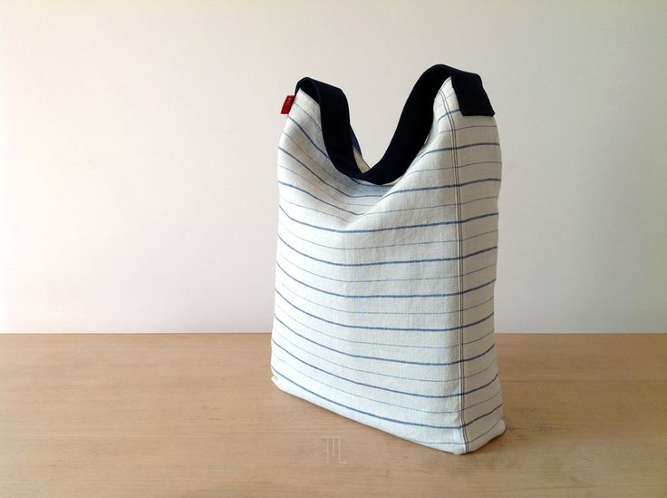 #Etsy $68.60 #Hobobag in vintage striped linen blend fabric, bucket bag handmade in limited edition, made in Italy cotton linen tote  https://www.etsy.com/listing/399547125/hobo-bag-in-vintage-striped-linen-blend?ref=shop_home_active_2