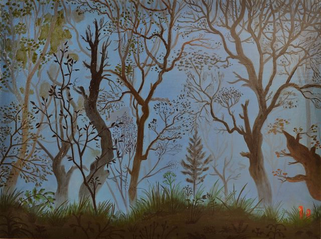 Forest walk from endpapers The Giant Golden Book of Elves and Fairies Garth Williams by janefriar, via Flickr