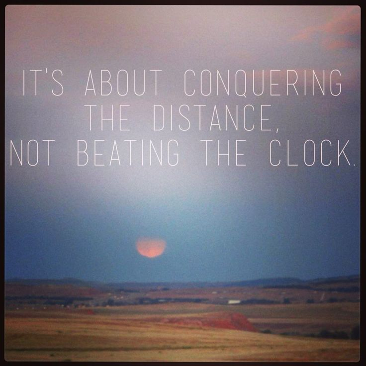 """it's about conquering the distance..."""