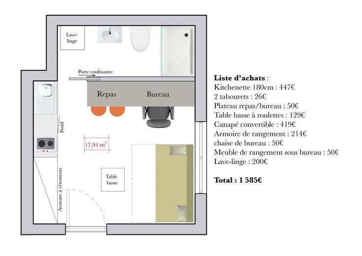 90 best id e amenagement studio images on pinterest home for Gagner de la place dans un studio