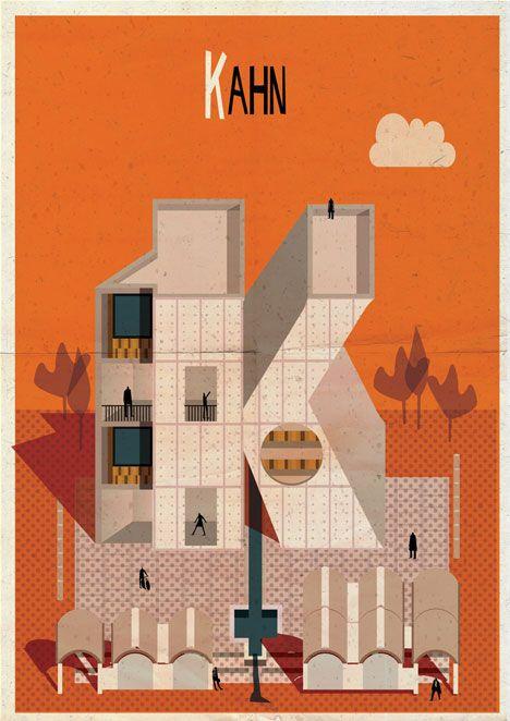 Archibet alphabet of architects by Federico Babina | Kahn