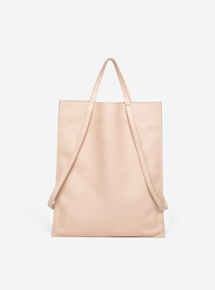 Minimal Handbag - natural leather bag, chic minimalist style // PB 0110