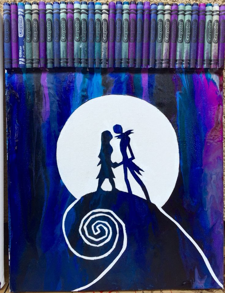 Nightmare Before Christmas crayon art