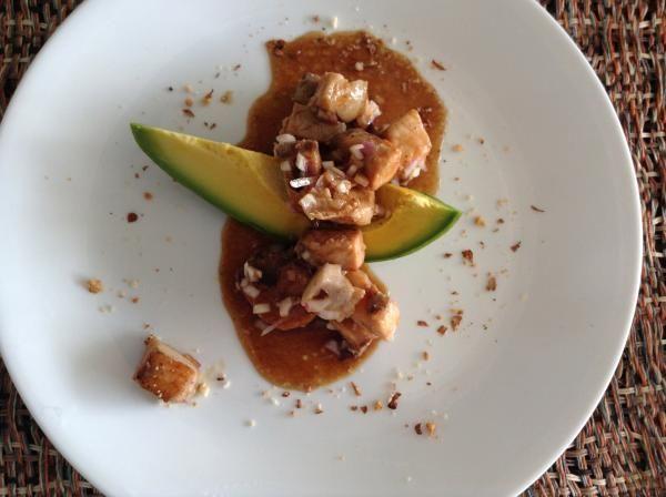 Receta de Tacos de salmón a la plancha con aguacate