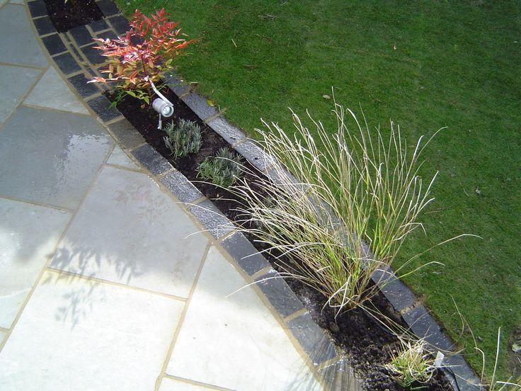 Limestone patio