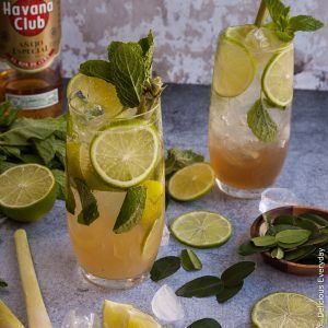 Lemongrass, Kaffir Lime and Ginger Mojito - What's a more refreshing, and more loved cocktail than a Mojito.  Cooling mint. Refreshing lime. And sweetened sparkling water never fail to hit the spot after a day in the sun! https://www.deliciouseveryday.com/ginger-mojito-lemongrass-kaffir-lime/