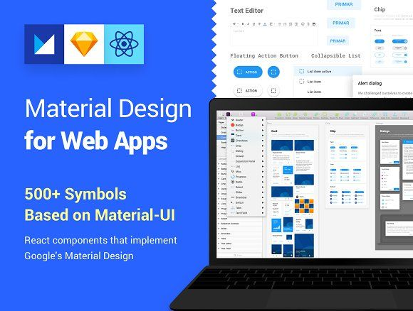 Material Design Kit For Web Apps By Vitor Heinzen On