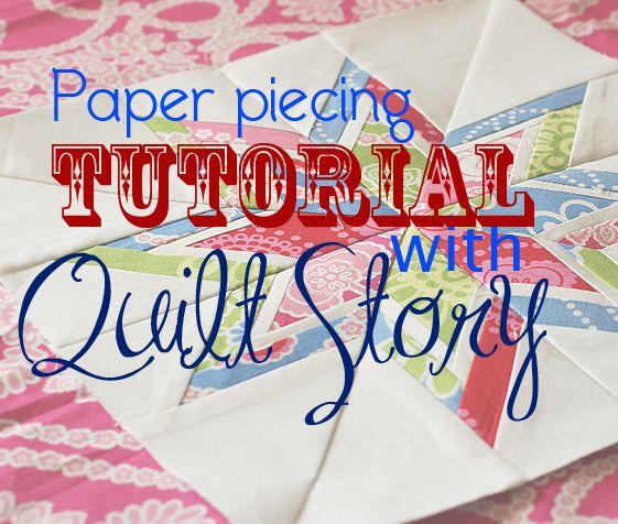 Quilt Story: Paper piecing tutorial...