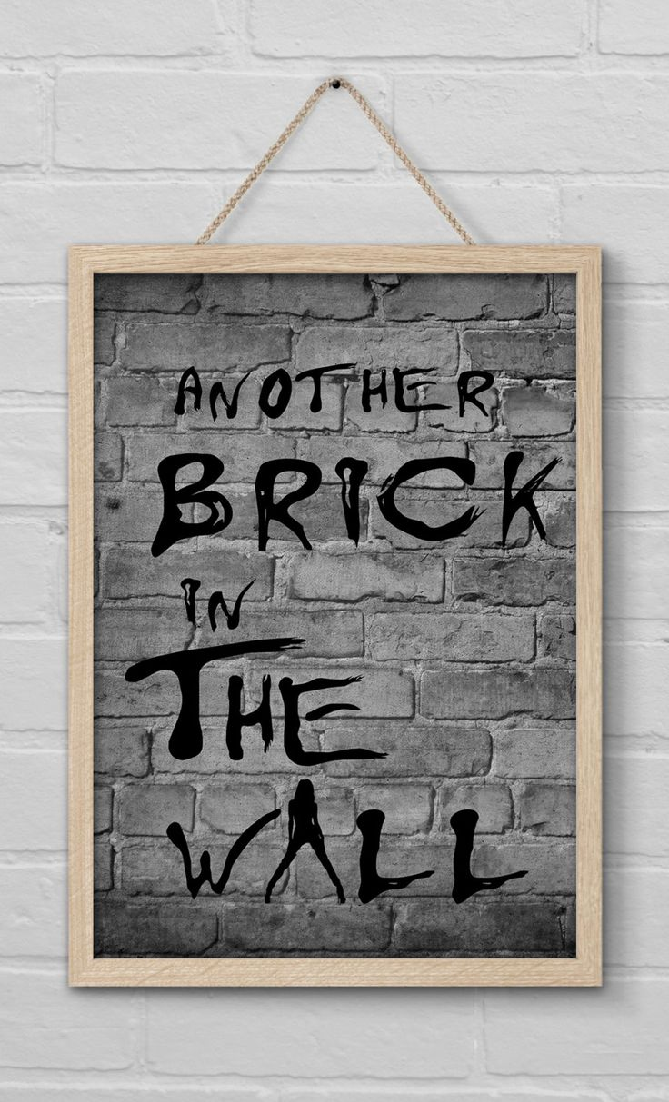 another brick in the wall pink floyd with lady model ver 2 on pink floyd the wall id=64728