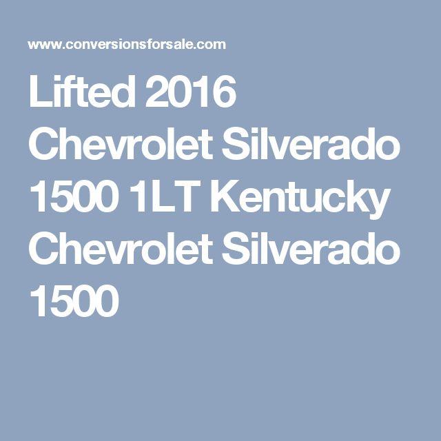 Lifted 2016 Chevrolet Silverado 1500 1LT Kentucky Chevrolet Silverado 1500