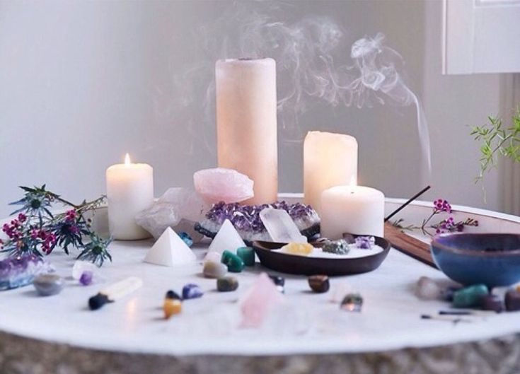 Image result for using candles and crystals fantasy art