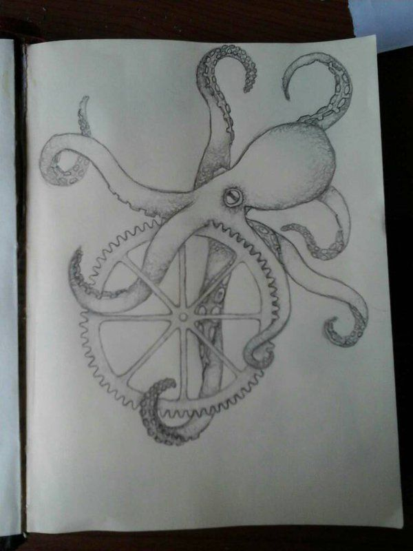 Octopus cog thing by night2305 on DeviantArt