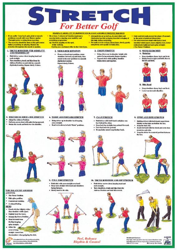 Warm-Up/Stretching Booklet For Golf