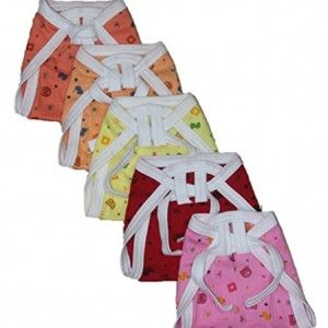 New-born-Baby-white-Cotton-Cloth-Nappies-Pack-of-5-Mix-Color-Print-0