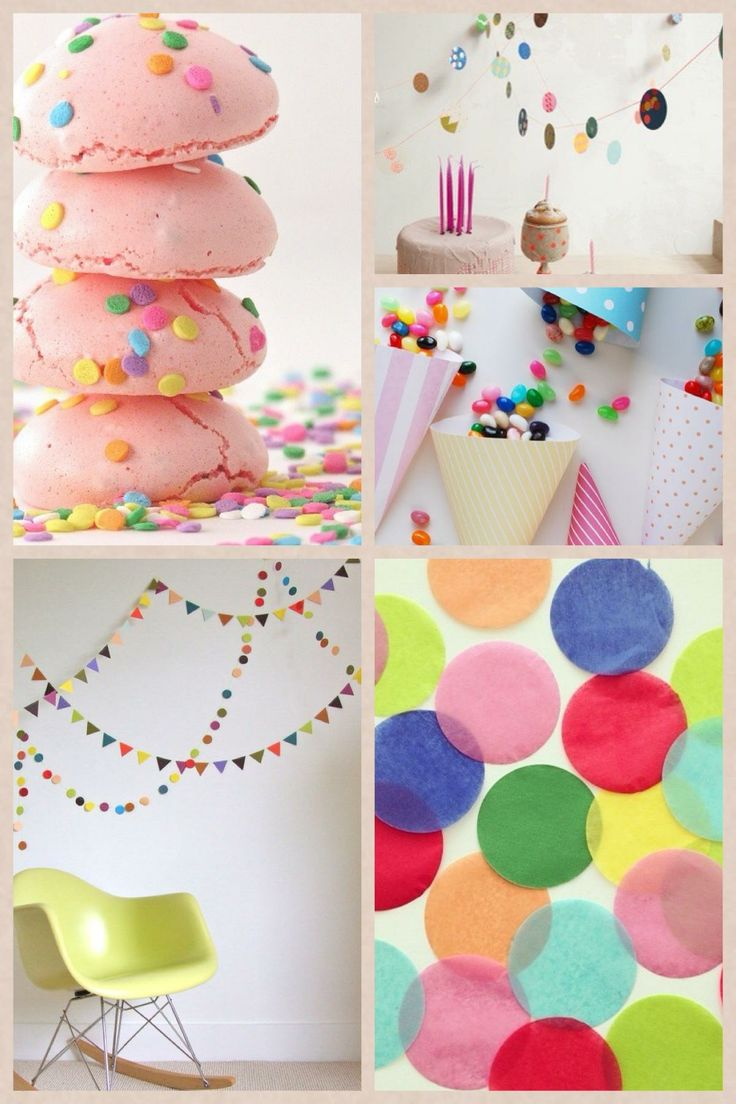 Inspiration for a confetti party!