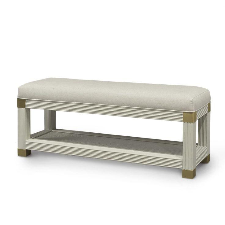 Palecek Gregory Bench - Gold | Benches & Settees | Living Room | Furniture | Candelabra, Inc.