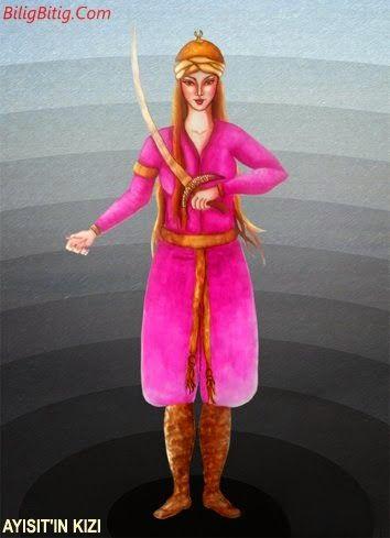 Ayısıt'ın Kızları Türk Mitolojisi Karakteri - Türk Asya - Bilig Bitig, Asian Turkish, Тюрки России