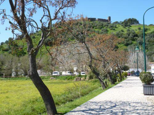 View to the moorish castle in Aljezur