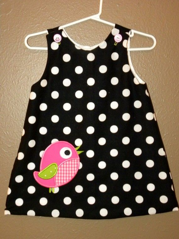 Girls Little Birdie Dress 3mon size 5 available by bittyboutique, $27.99