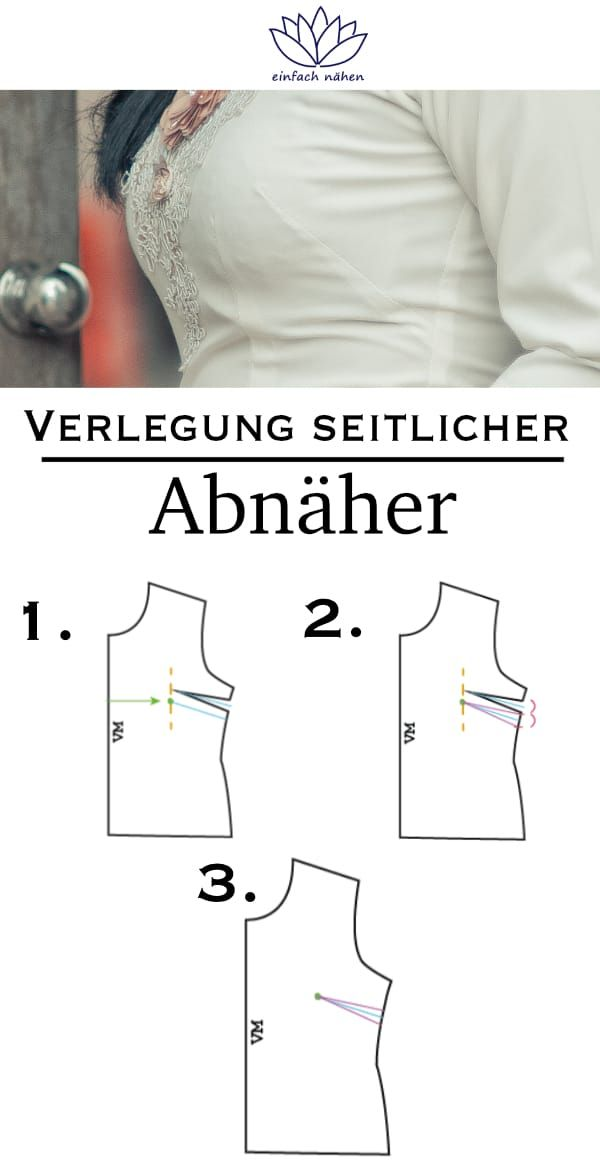 "Lay side darts in 3 steps | easy to sew – tips and tricks …   – nähen lernen – Schnittmuster anpassen mit ""einfach nähen"""
