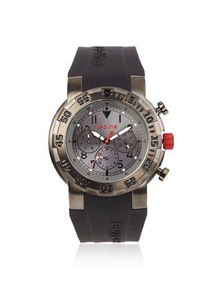 86% OFF red line Men's RL-50027-GUN-014 Black/Grey Silicone Watch
