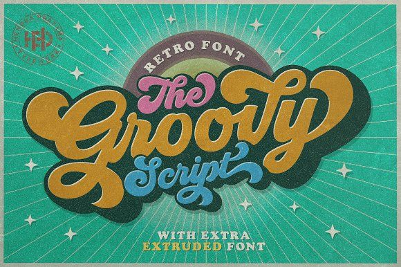 Groovy Retro Font Retro Font Groovy Font Retro Typography