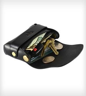 Small Stitchless Leather Palm Wallet