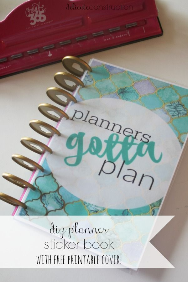 DIY planner sticker book. This keeps all of your planner stickers organized and in one place.