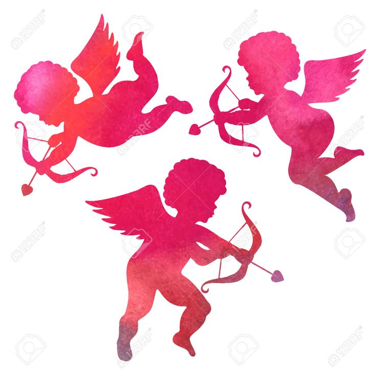 Aquarelle Silhouette D'une Peinture à L'angel.watercolor Sur Fond Blanc Clip Art Libres De Droits , Vecteurs Et Illustration. Image 44177089.