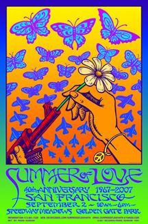 Summer of Love 1967  Classic rock music psychedelic concert poster ☮ ☮ Hippie Style ☮ ☮