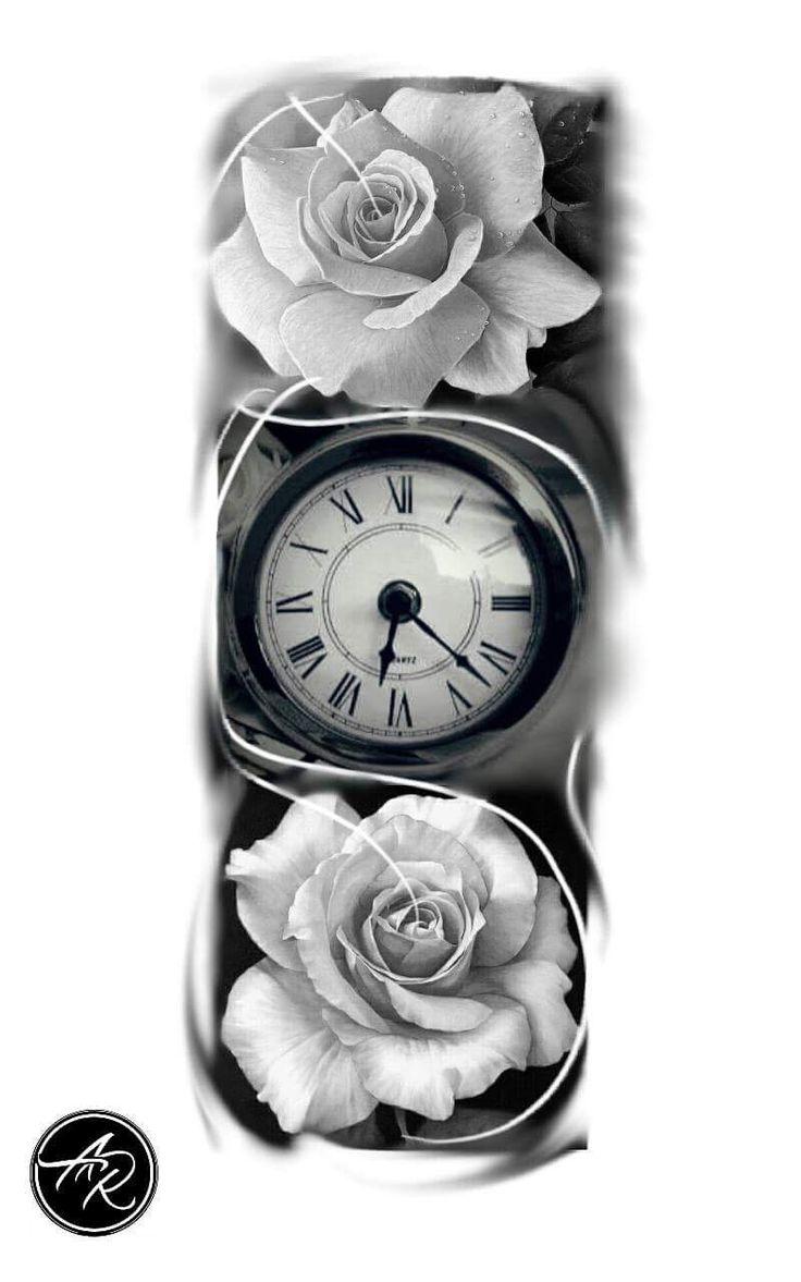 Tattoo clock, clock, relogio, drawing clock tattoo