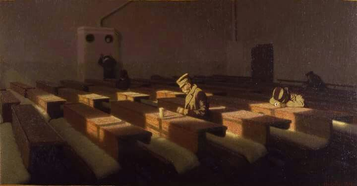 The Christmas of those left behind, Angelo Morbelli (1903) Ca' Pesaro - Galleria Internazionale d'Arte Moderna.
