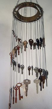 I definitely want to attempt something like this-- or even one with old silverware.