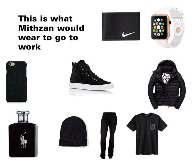 """""""This is what Mithzan would wear to go to work"""" by emmapkerr5 on Polyvore featuring Hurley, Superdry, Hudson Jeans, Common Projects, NIKE, AllSaints, Polo Ralph Lauren and Ralph Lauren"""