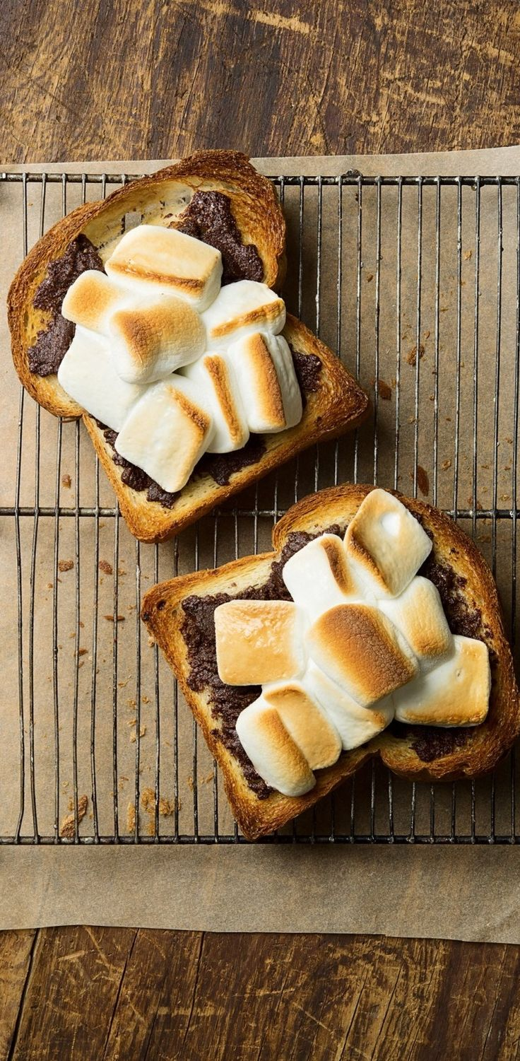 Hazelnut s'more toast.