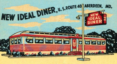 New Ideal Diner Matchbook Cover - Aberdeen, Maryland