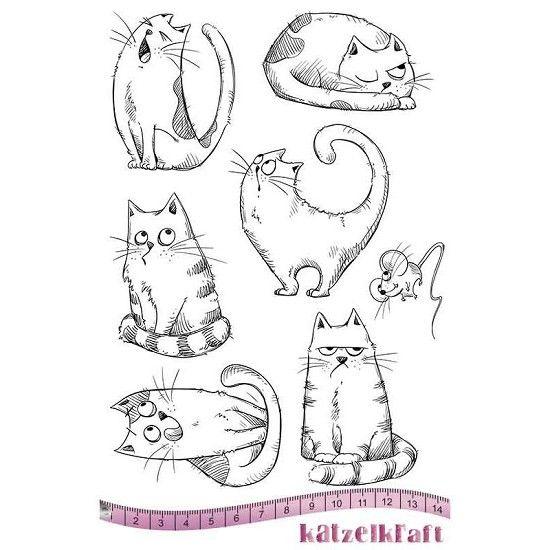 Rubberstamp - Katzelkraft - A5 - Katten
