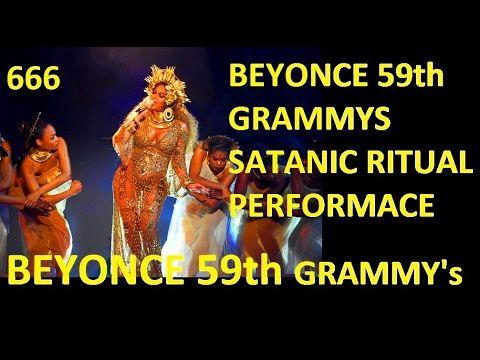 SHOCKING: BEYONCE SATANIC WORSHIP RITUAL 59th GRAMMY's 2017 DEVIL DEMONI...