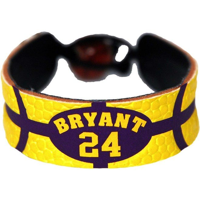 Los Angeles Lakers Kobe Bryant Team Color Basketball Bracelet