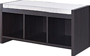 Altra Penelope Entryway Storage Bench with Cushion, Espresso