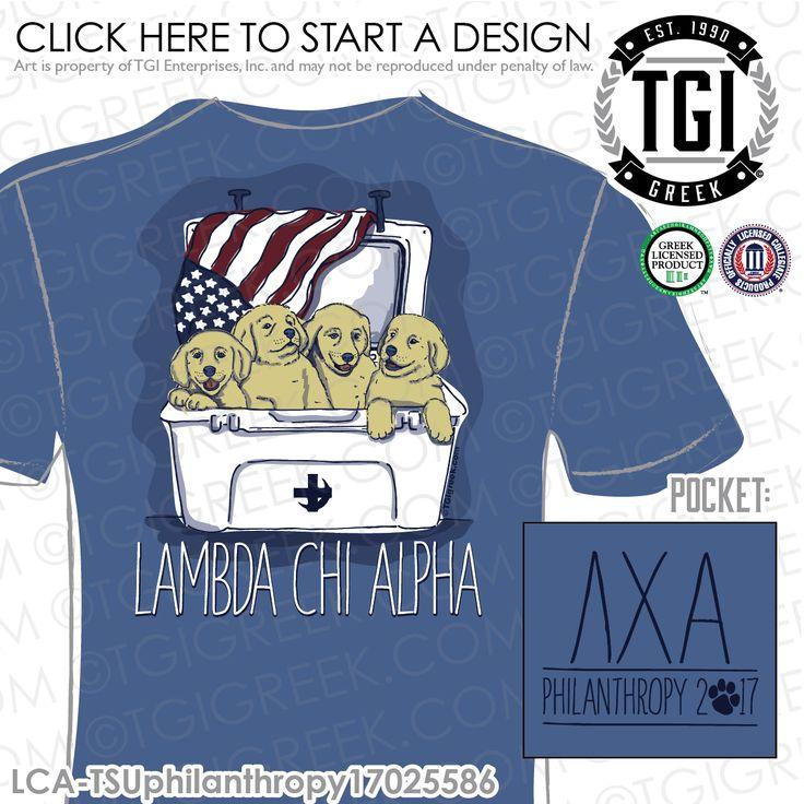 Lambda Chi Alpha | ΛΧΑ | Philanthropy | Puppy Philanthropy | TGI Greek | Greek Apparel | Custom Apparel | Fraternity Tee Shirts | Fraternity T-shirts | Custom T-Shirts